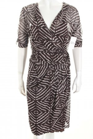 Kookai Kleid dunkelbraun-weiß Casual-Look