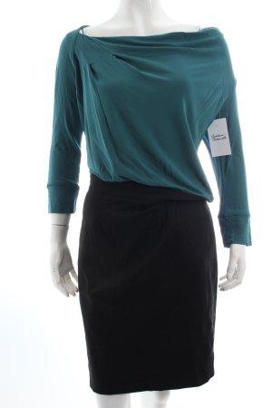 Kookai Kleid petrol-schwarz