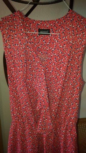Kookai Kleid rote Blümchen Gr34 (40) *neu*