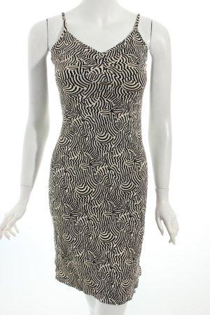 Kookai Kleid weiß-schwarz abstraktes Muster