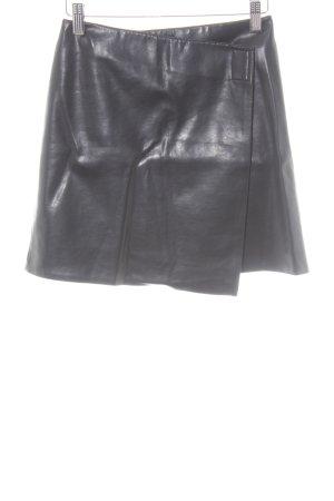 Kookai Faux Leather Skirt black wet-look