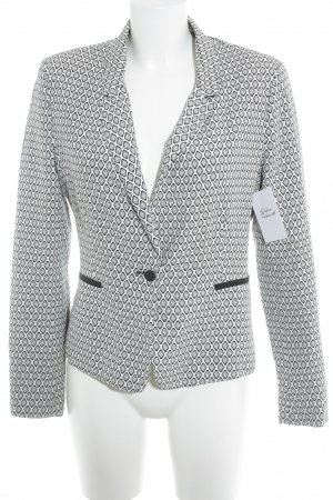 Kookai Kurz-Blazer weiß-schwarz abstraktes Muster Casual-Look