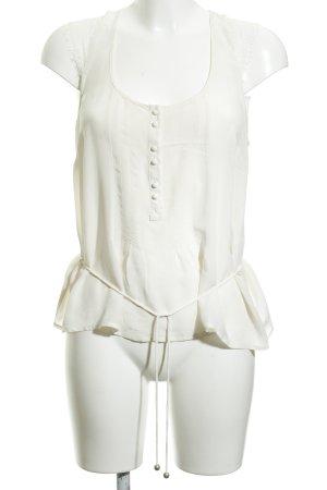 Kookai Kurzarm-Bluse creme klassischer Stil