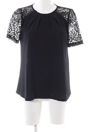 Kookai Kurzarm-Bluse schwarz Elegant