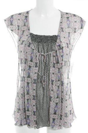 Kookai Kurzarm-Bluse florales Muster extravaganter Stil