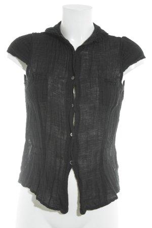 Kookai Kurzarm-Bluse schwarz schlichter Stil