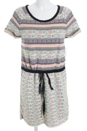Kookai Vestido de manga corta estampado étnico look retro