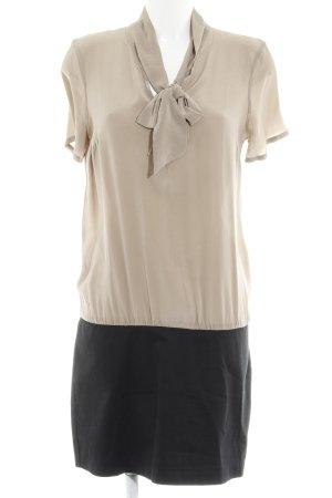Kookai Kurzarmkleid graubraun-schwarz Elegant