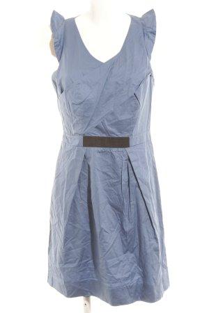 Kookai Vestido de manga corta azul aciano-negro elegante