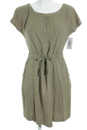 Kookai Vestido de manga corta verde oliva estilo safari