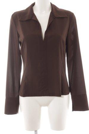 Kookai Langarm-Bluse dunkelbraun schlichter Stil