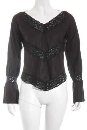 Kookai Langarm-Bluse schwarz Casual-Look