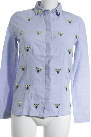 Kookai Chemise à manches longues bleu azur style mode des rues