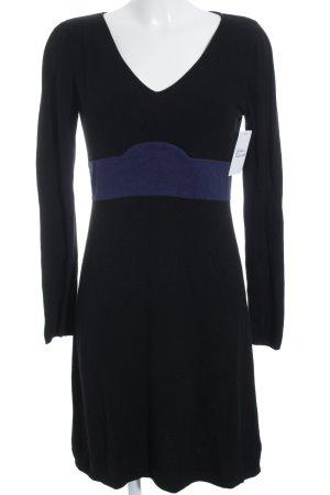 Kookai Langarmkleid schwarz-blau Casual-Look
