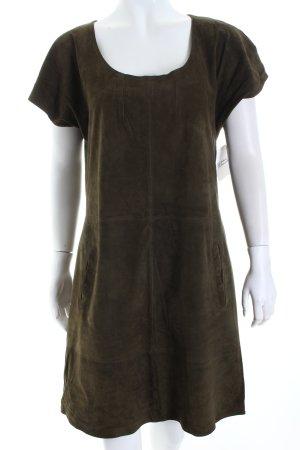 Kookai Lederkleid khaki schlichter Stil