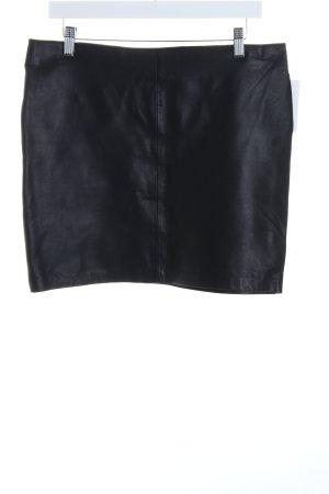 Kookai Falda de cuero negro estilo fiesta