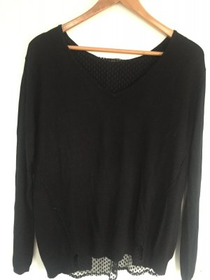 KOOKAI, leichter Pullover mit Spitzeneinsatz