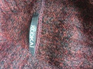 KOOKAI, leichter Wollpullover, Bordeaux-Braun, 40/M
