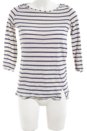 Kookai Longsleeve weiß-blau Streifenmuster Casual-Look