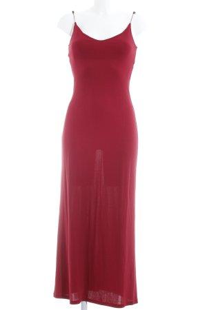 Kookai Vestido largo rojo oscuro look Boho