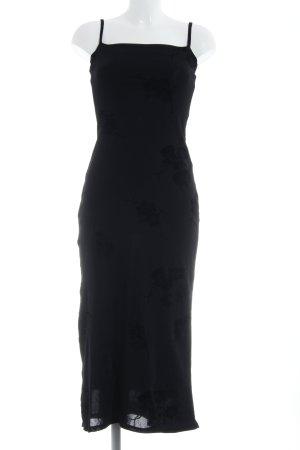 Kookai Vestido largo negro estampado floral elegante