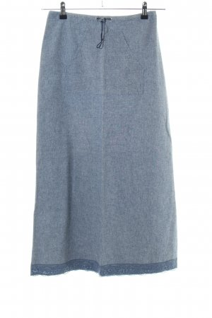 Kookai Maxi gonna blu puntinato stile casual