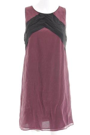 Kookai Vestido a media pierna negro-púrpura elegante