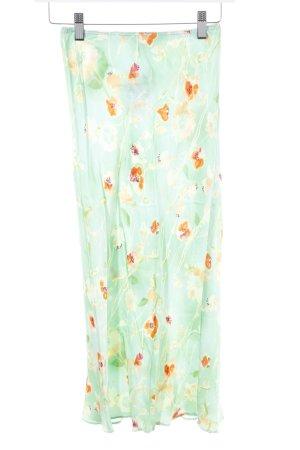Kookai Midirock hellgrün-apricot florales Muster Casual-Look
