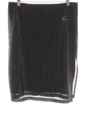 Kookai Falda midi negro brillante