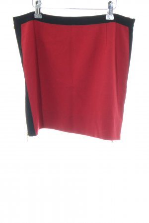 Kookai Minirock rot-schwarz Casual-Look