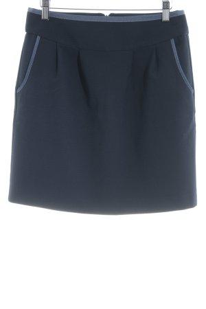 Kookai Minifalda azul oscuro-azul acero diseño de espiga elegante