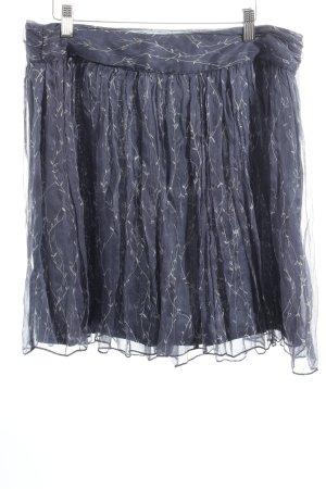 Kookai Minirock graublau-wollweiß florales Muster Casual-Look