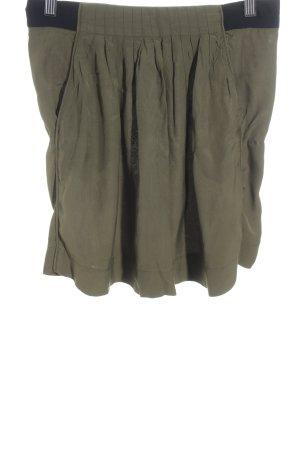 Kookai Minirock schwarz-olivgrün schlichter Stil
