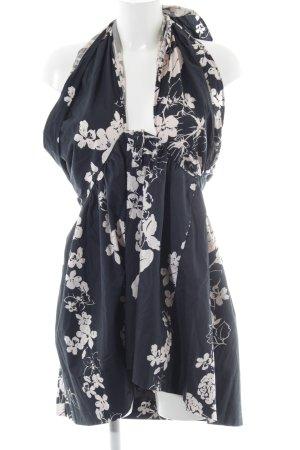 Kookai Vestido de cuello Halter azul oscuro-blanco puro estampado floral