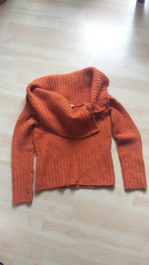 Kookai Off-Shoulder Pulli/Herbstfarbe
