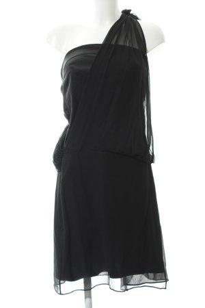 Kookai Vestido de un hombro negro elegante