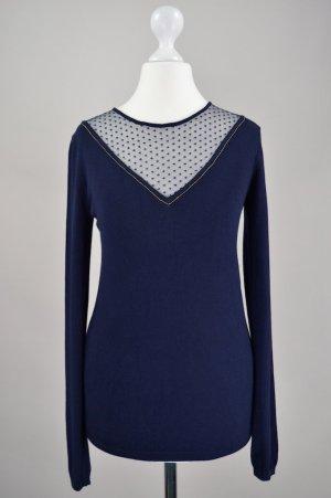 Kookai Pullover mit Spitzeneinsatz blau Größe XS
