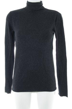 Kookai Jersey de cuello alto negro-gris moteado look casual