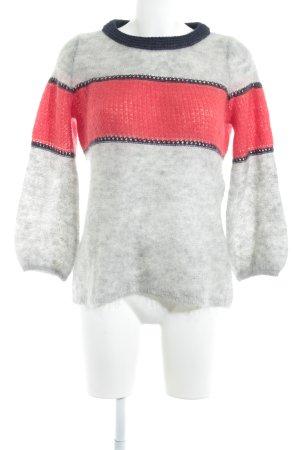 Kookai Jersey de cuello redondo gris claro estampado a rayas look casual