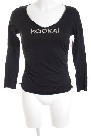 Kookai Rundhalspullover schwarz Casual-Look