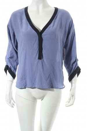 Kookai Seidenbluse stahlblau-dunkelblau klassischer Stil