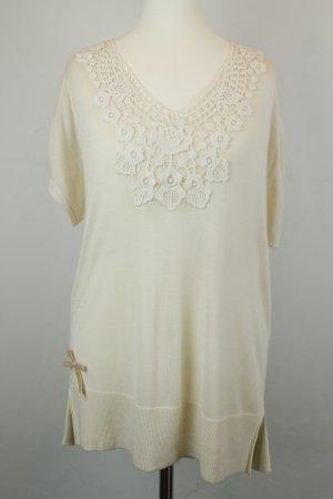 Kookai Shirt Longshirt Strickshirt Gr. 3 / dt 40 creme