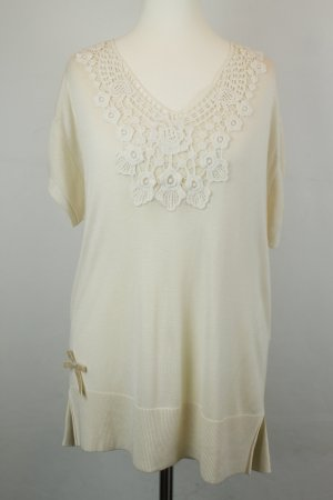 Kookai Shirt Longshirt Strickshirt Gr. 3 / dt 42 creme