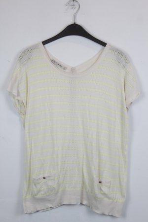 Kookai Shirt Sweatshirt Gr. S beige, gelb mit Lochmuster (18/4/110)