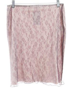 Kookai Kanten rok nude-bordeaux bloemen patroon Geweldige look