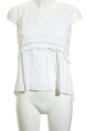 Kookai Top de encaje blanco modelo de punto flojo look casual