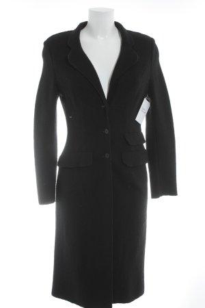 Kookai Abrigo de punto negro estilo clásico