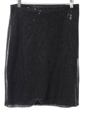 Kookai Jupe tricotée noir pailleté