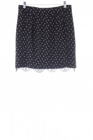 Kookai Knitted Skirt black-pale yellow star pattern casual look