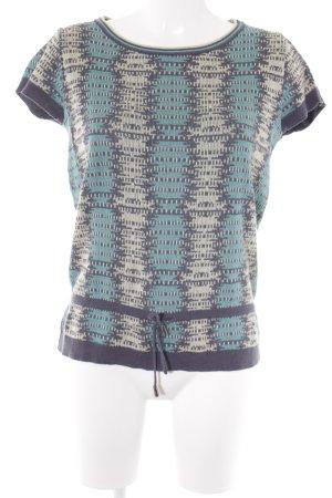 Kookai Strickshirt abstrakter Druck Hippie-Look